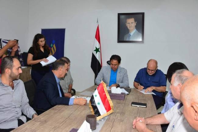 محافظة دمشق توقع عقد دراسة البنى التحتية لباسيليا سيتي وتؤكد أن تأمين السكن البديل أولوية لها