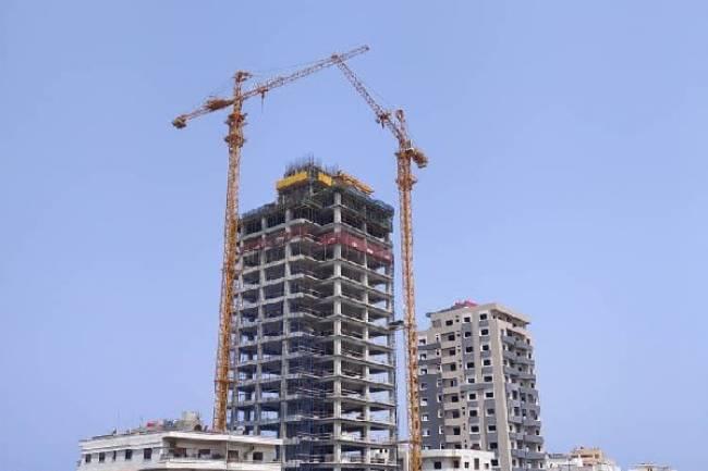 استئناف العمل لإنجاز أعلى برج في سوريةبطرطوس