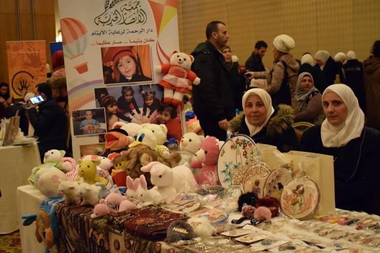بدعم من صندوق الأمم المتحدة للسكان.. بازار خيري يعرض منتجات لنساء سوريات مبدعات  من 20 جمعية تنموية